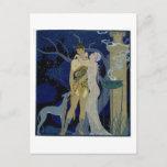 Venus and Adonis (colour litho) Postcard