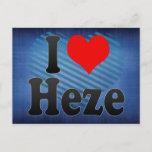 I Love Heze, China. Wo Ai Heze, China Postcard