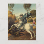 Raphael - Saint George and the Dragon Postcard