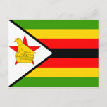 Zimbabwe Flag Postcard