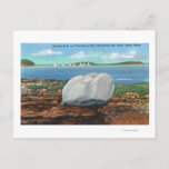 View of Frenchman's Bay and Balance Rock Postcard