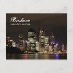Brisbane by Night Postcard