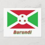 Burundi Flag with Name Postcard