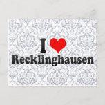 I Love Recklinghausen, Germany Postcard