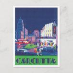 Vintage Calcutta Kolkata India Postcard