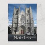 Nantes cathedral postcard