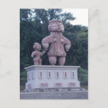 Jomon Statue Japanese Postcard