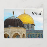 Israel Postcard With Photo Of the Dome of The Rock