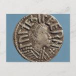 Penny Aethelberht Anglo-Saxon King East Anglia. Postcard