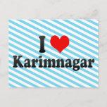 I Love Karimnagar, India Postcard
