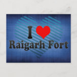 I Love Raigarh Fort, India Postcard
