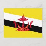Brunei National World Flag Postcard