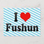 I Love Fushun, China Postcard
