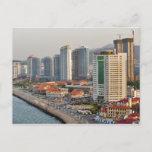 Waterfront with Yantai city skyline, Shandong Postcard
