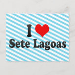 I Love Sete Lagoas, Brazil Postcard