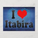 I Love Itabira, Brazil Postcard