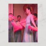 Chinese fan dance, Jilin province Postcard