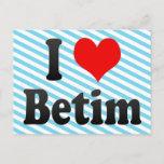 I Love Betim, Brazil. Eu Amo O Betim, Brazil Postcard