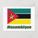 Mozambique Flag with Name Postcard