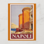 """Naples"" Vintage Travel Poster Postcard"