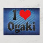 I Love Ogaki, Japan Postcard