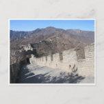 great wall china postcard