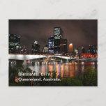 Brisbane River City at Night Postcard