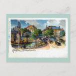 Vintage Gruss aus Bremerhaven Geestebrücke litho Postcard