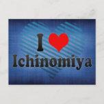 I Love Ichinomiya, Japan Postcard