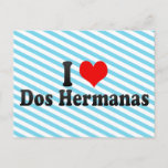 I Love Dos Hermanas, Spain Postcard