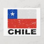 Chile Vintage Flag Postcard