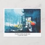 Chou Xing Hua Suzhou Scenery chinese painting Postcard