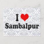 I Love Sambalpur, India Postcard