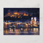 Heidelberg at Night Postcard