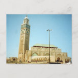 hassan casablanca mosque postcard