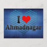 I Love Ahmadnagar, India Postcard