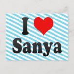 I Love Sanya, China. Wo Ai Sanya, China Postcard