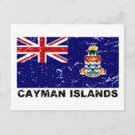 Cayman Islands Vintage Flag Postcard