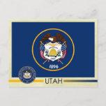Utah State Flag and Seal Postcard