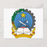 Angola Coat of Arms Postcard