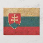 Vintage Slovakia Flag Postcard