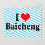 I Love Baicheng, China Postcard