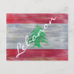 Lebanon distressed Lebanese flag Postcard