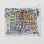 Fountain Place de L'Hotel de Ville Postcard