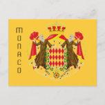 Monaco flag postcard