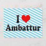 I Love Ambattur, India. Mera Pyar Ambattur, India Postcard