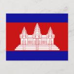 Cambodia Flag Postcard