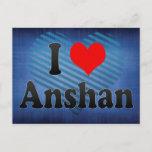 I Love Anshan, China Postcard