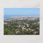 Spectacular aerial panorama of Livorno city, Italy Postcard