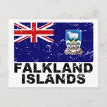 Falkland Islands Vintage Flag Postcard